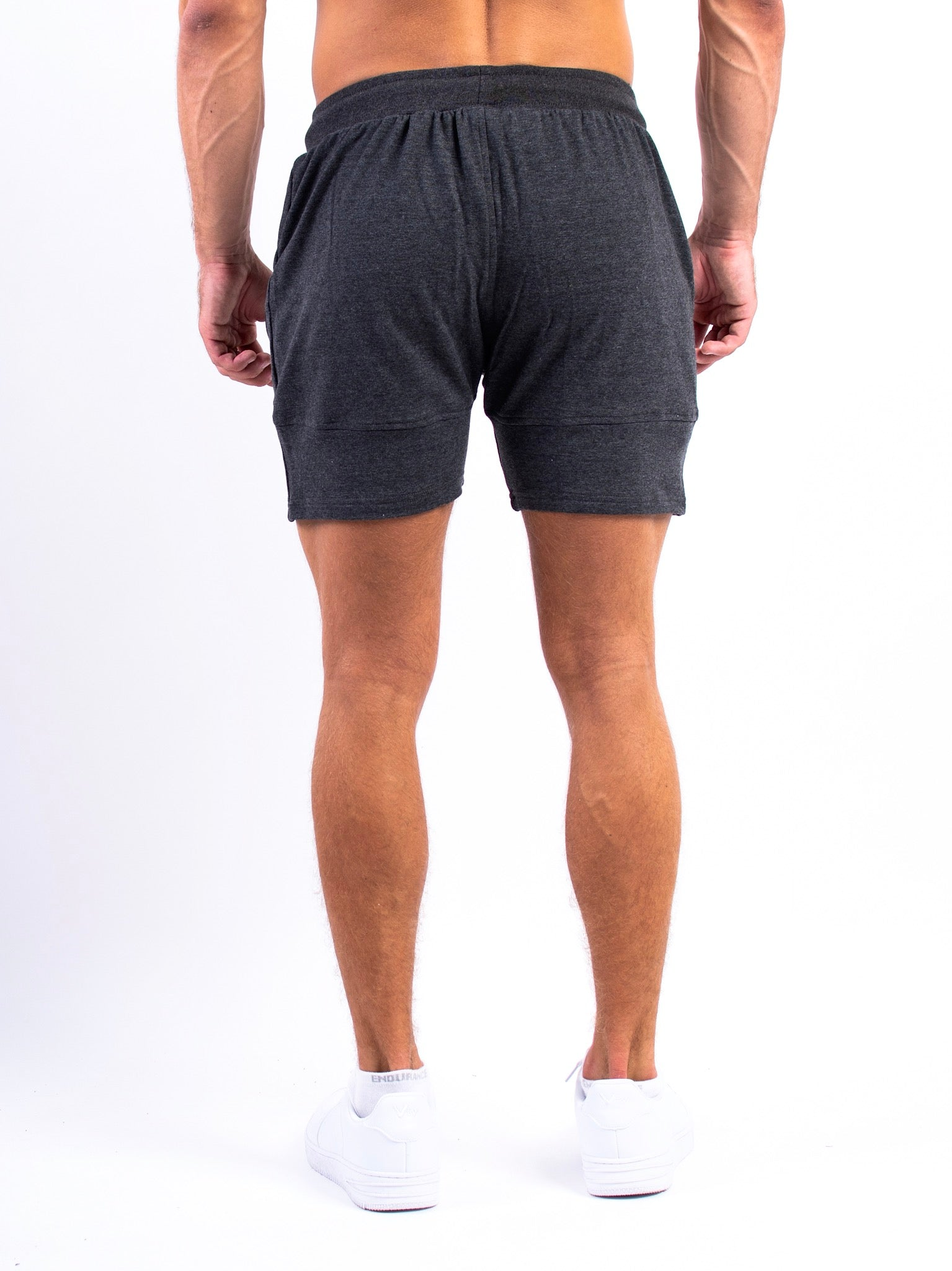 Lionn Fitted Shorts Charcoal