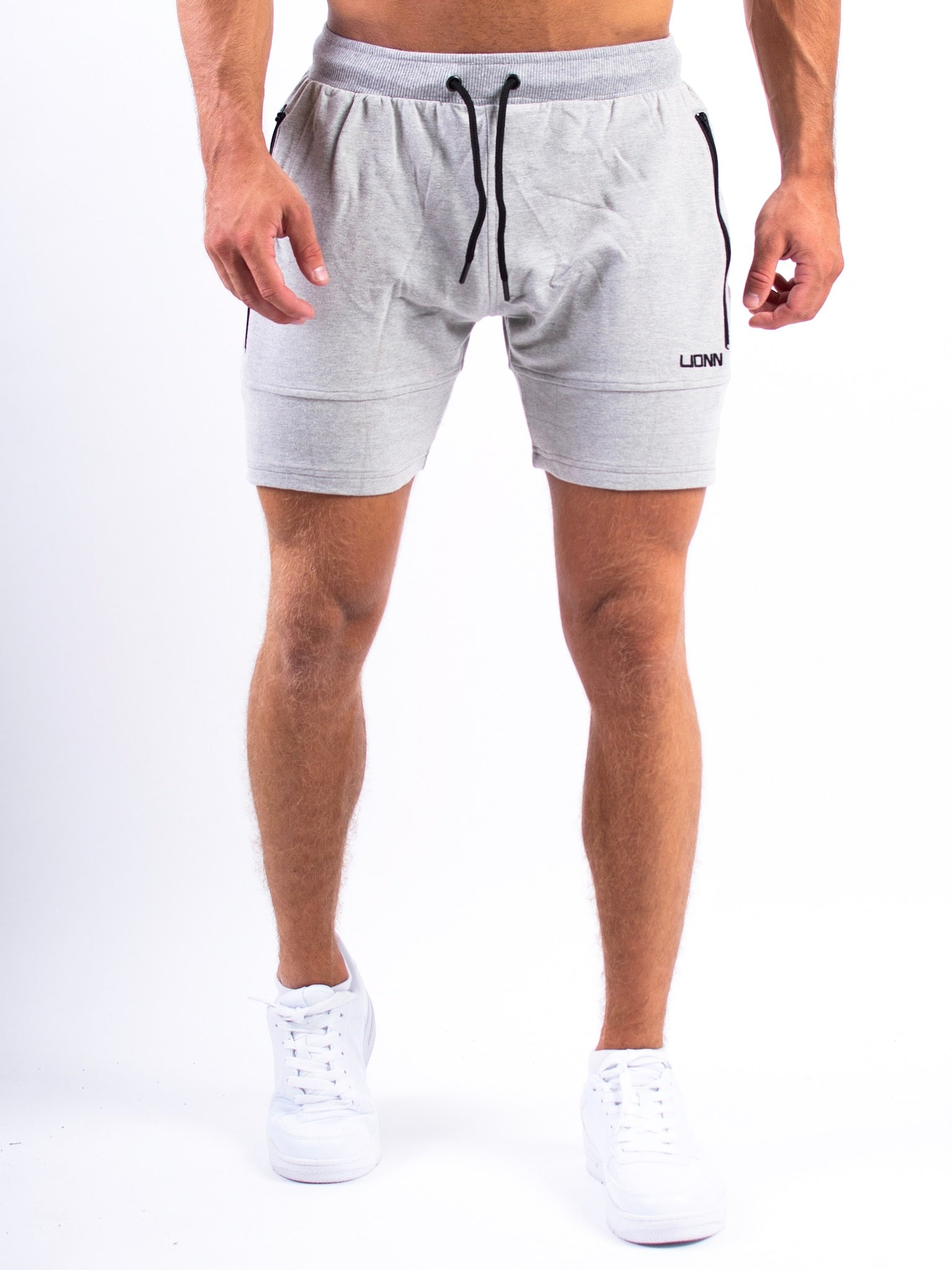 Lionn Fitted Shorts Heather Grey