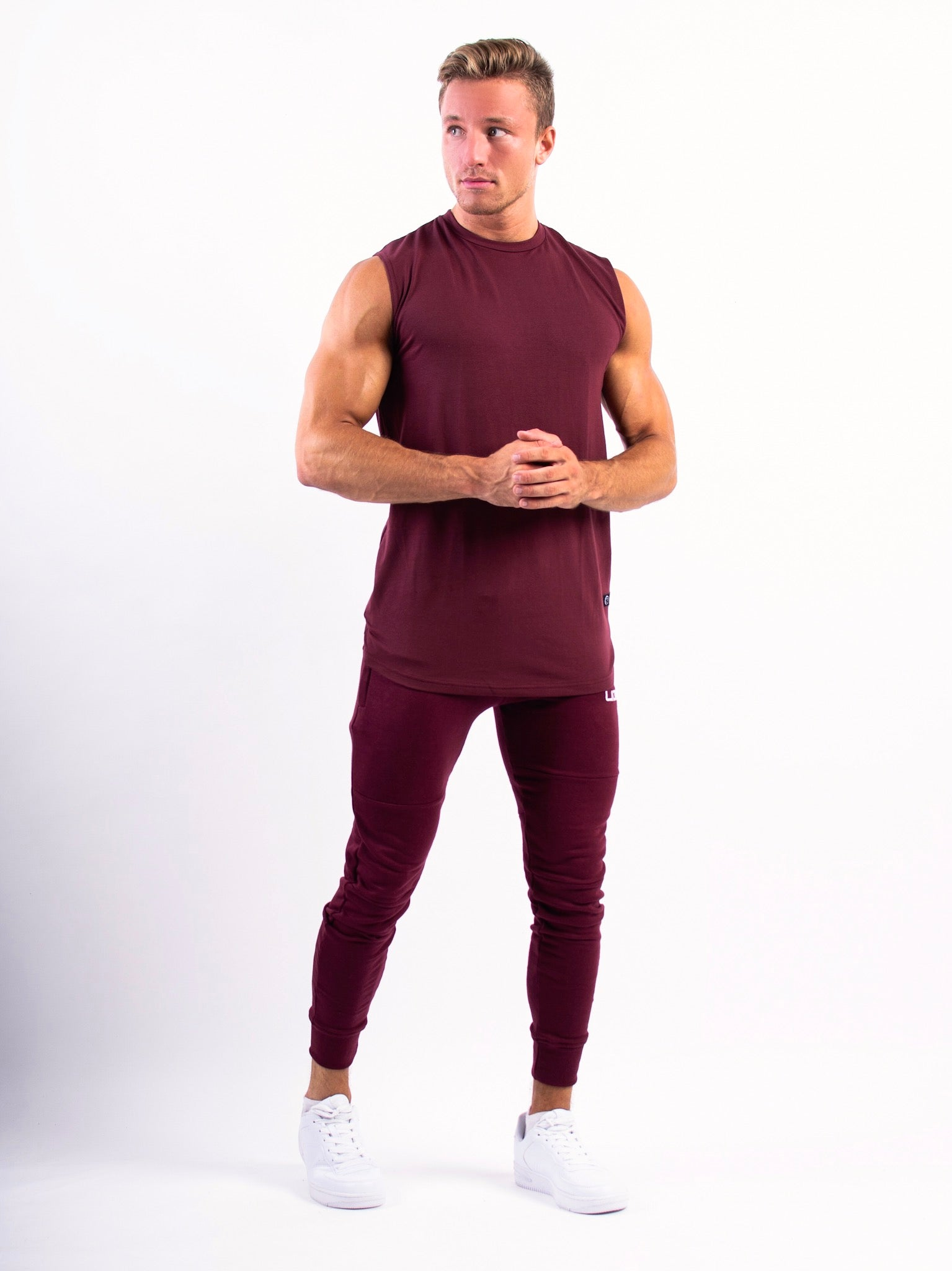 Lionn Sleeveless T-shirt Maroon