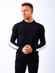 Fitted Side Panel Sweatshirt Black