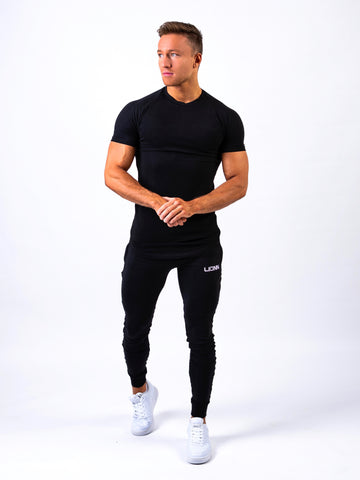 Lionn Lengthened Curvy Premium T-shirt Black