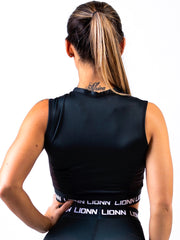 Lionn Contour Crop Top Black