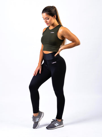 Lionn Crop Top Olive Green