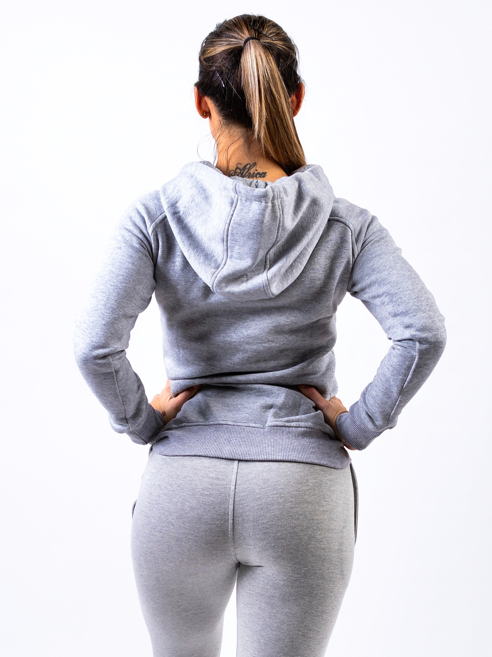 Lionn Fitted Hoodie Light Grey