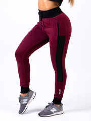 Lionn Contrast Bottoms Maroon and Black
