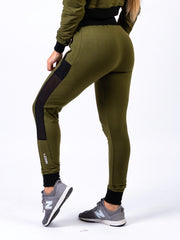 Lionn Contrast Bottoms Olive Green and Black