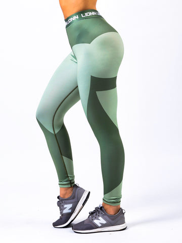Lionn Contour Leggings Light Forest Green