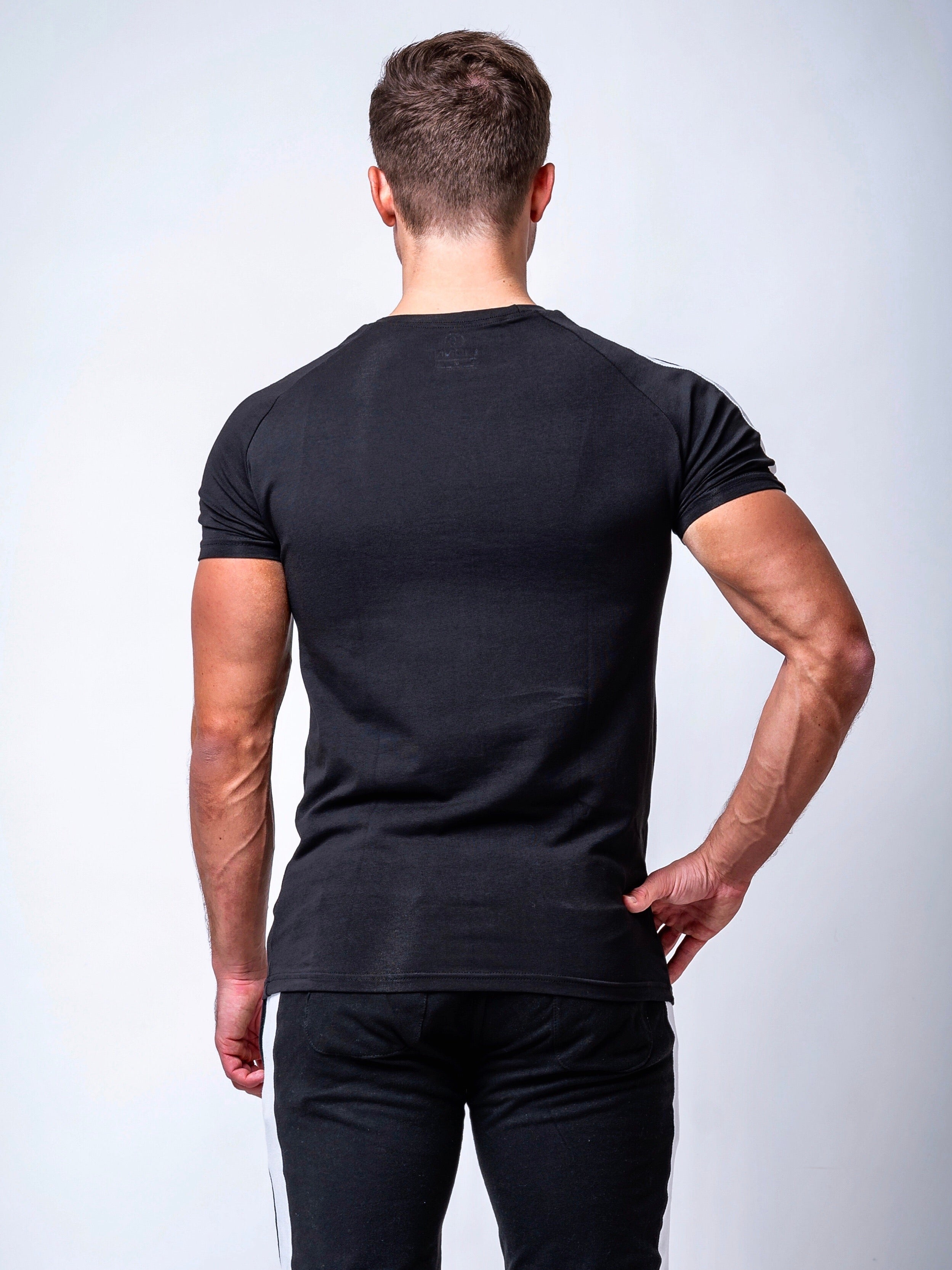 Fitted Side Panel T-shirt Black