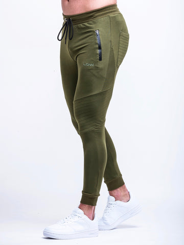 Panel Bottoms Olive Green