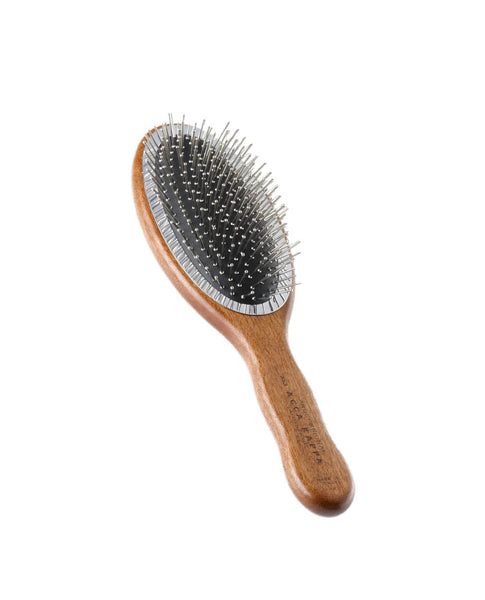 Oval Brush with Metal Pins