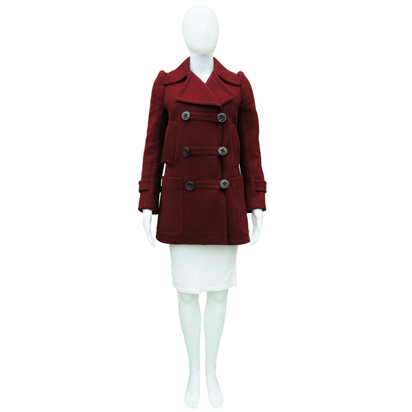 6267 WOOL BURGUNDY PEACOAT