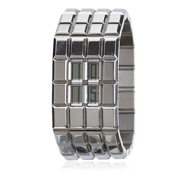 CHANEL CHOCOLAT STAINLESS STEEL DIGITAL QUARTZ WATCH