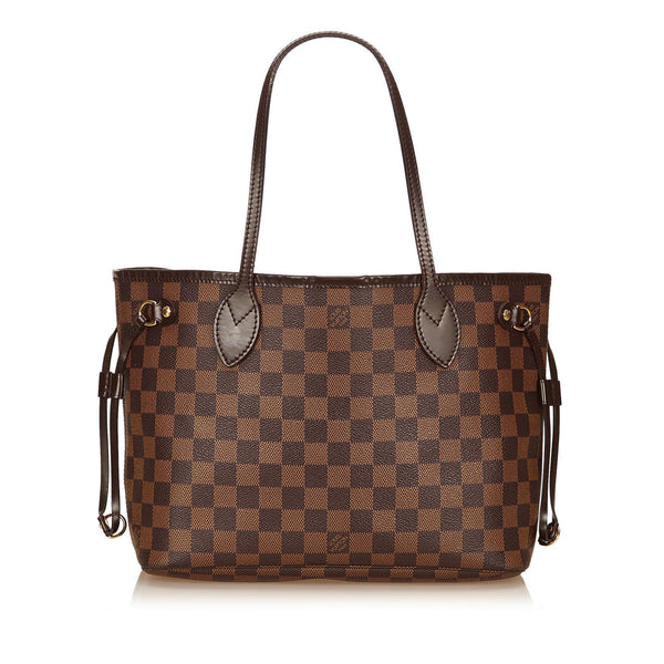 LOUIS VUITTON DAMIER EBENE NEVERFULL PM TOTE BAG