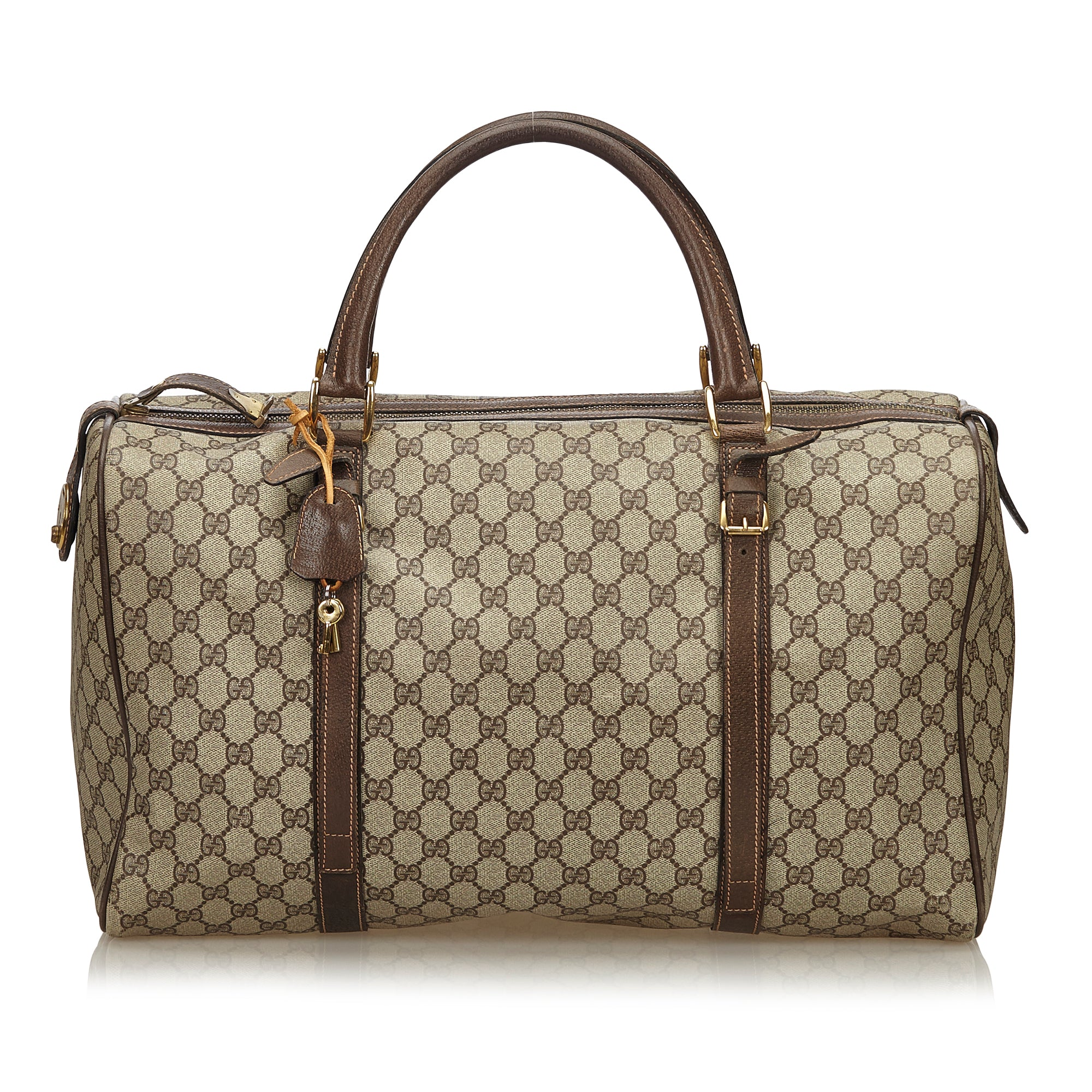 74dbe1e83082 GUCCI GG SUPREME WEEKENDER DUFFLE CARRY ON BAG Shop the best value on authentic  designer used ...