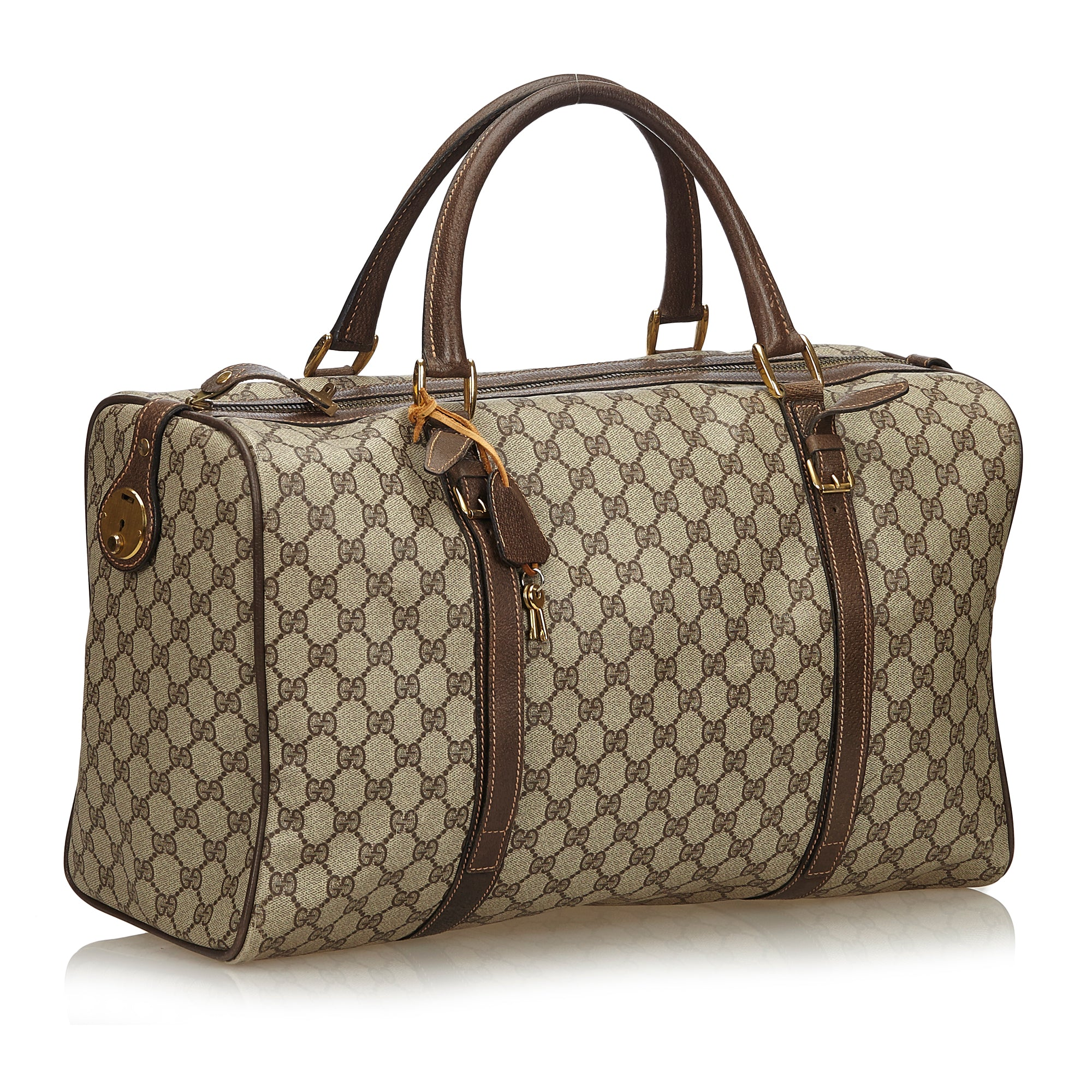 0c7e390193bf ... GUCCI GG SUPREME WEEKENDER DUFFLE CARRY ON BAG Shop the best value on  authentic designer used ...
