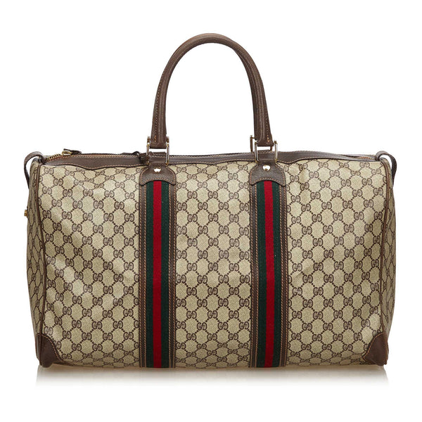 GUCCI GG WEB PLUS / SUPREME WEEKENDER CARRY ON BAG