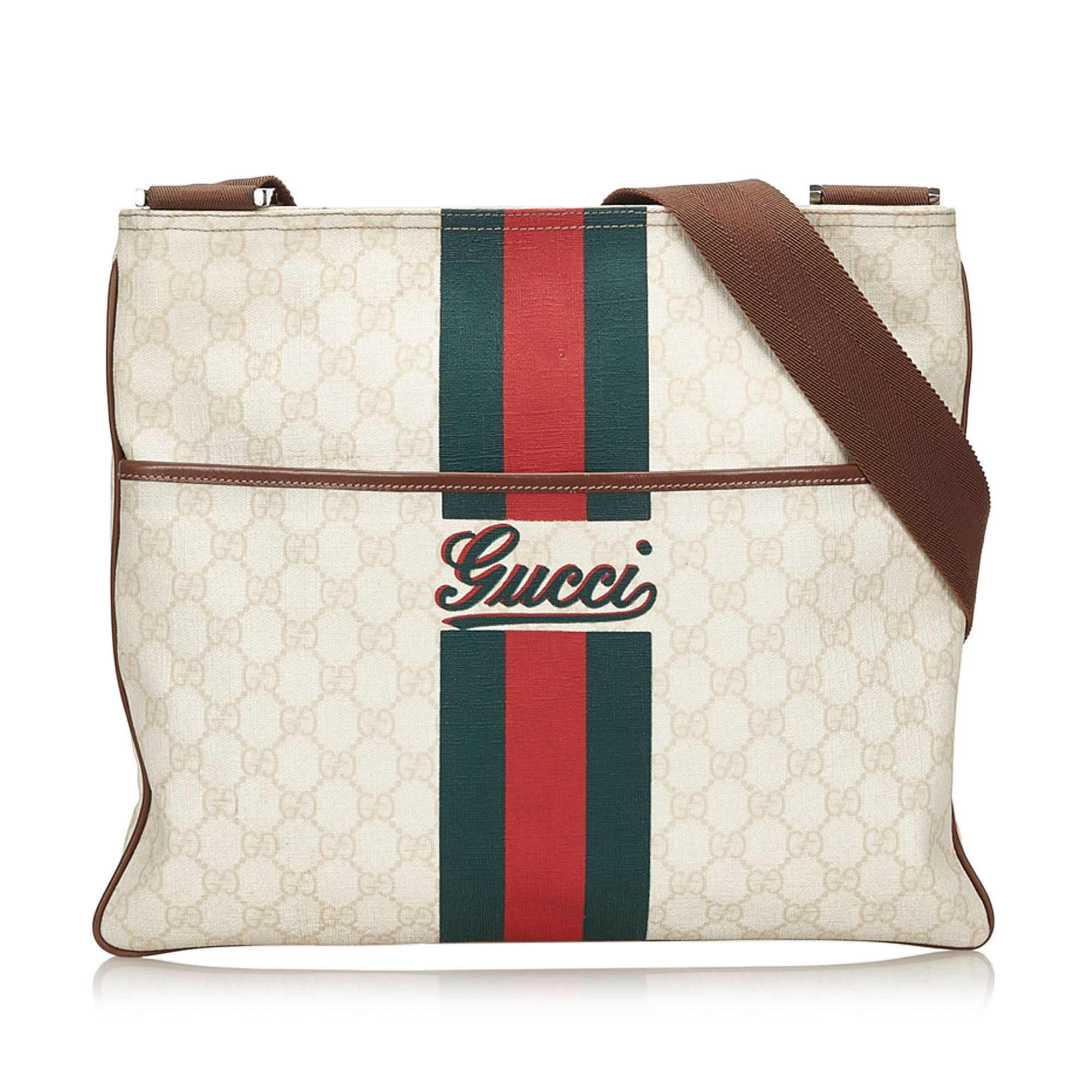 f52f2d2e1d9c GUCCI WEB SUPREME GG CROSSBODY BAG Shop the best value on authentic  designer resale consignment on ...
