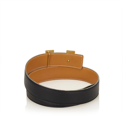 HERMES CONSTANCE H LEATHER BELT 65 - leefluxury.com