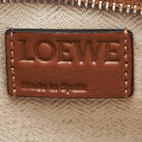 LOEWE CARAMEL LEATHER PUZZLE CLUTCH BAG - leefluxury.com