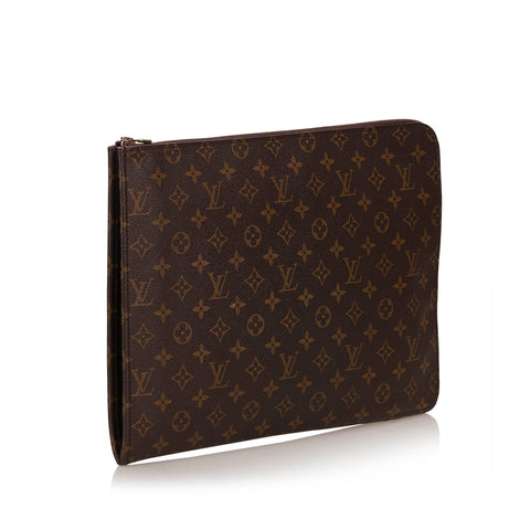 LOUIS VUITTON MONOGRAM POCHE DOCUMENT PORTFOLIO - leefluxury.com