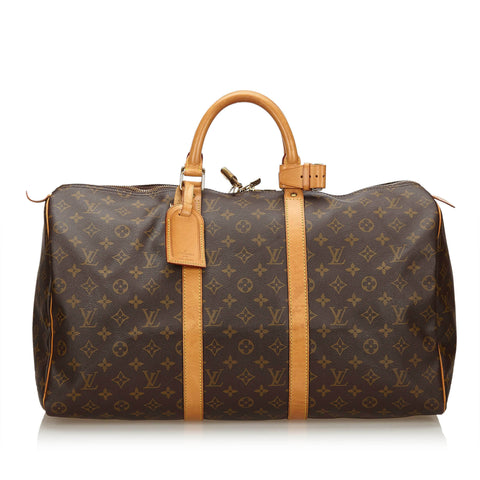 LOUIS VUITTON MONOGRAM KEEPALL BANDOULIÈRE 50 - leefluxury.com