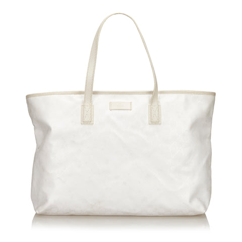 GUCCI GG IMPRIME WHITE SUPREME TOTE BAG