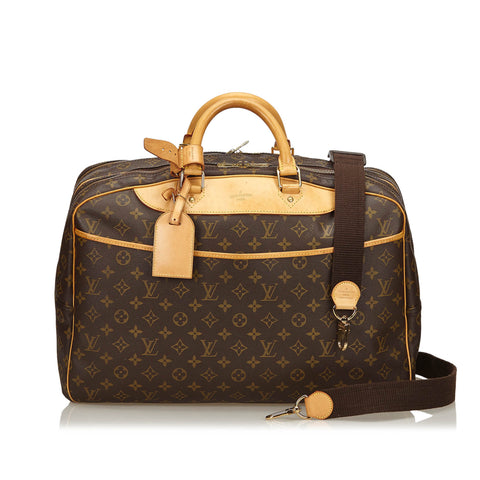 LOUIS VUITTON MONOGRAM ALIZE 24 HOUR BAG Shop online the best value on authentic designer used preowned consignment on Leef Luxury