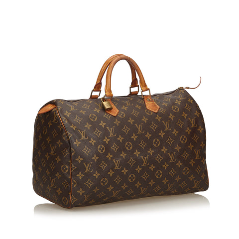 LOUIS VUITTON MONOGRAM SPEEDY 40 SATCHEL BAG - leefluxury.com