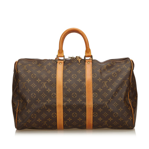 LOUIS VUITTON MONOGRAM KEEPALL BANDOULIÈRE 45 Shop online the best value on authentic designer used preowned consignment on Leef Luxury.