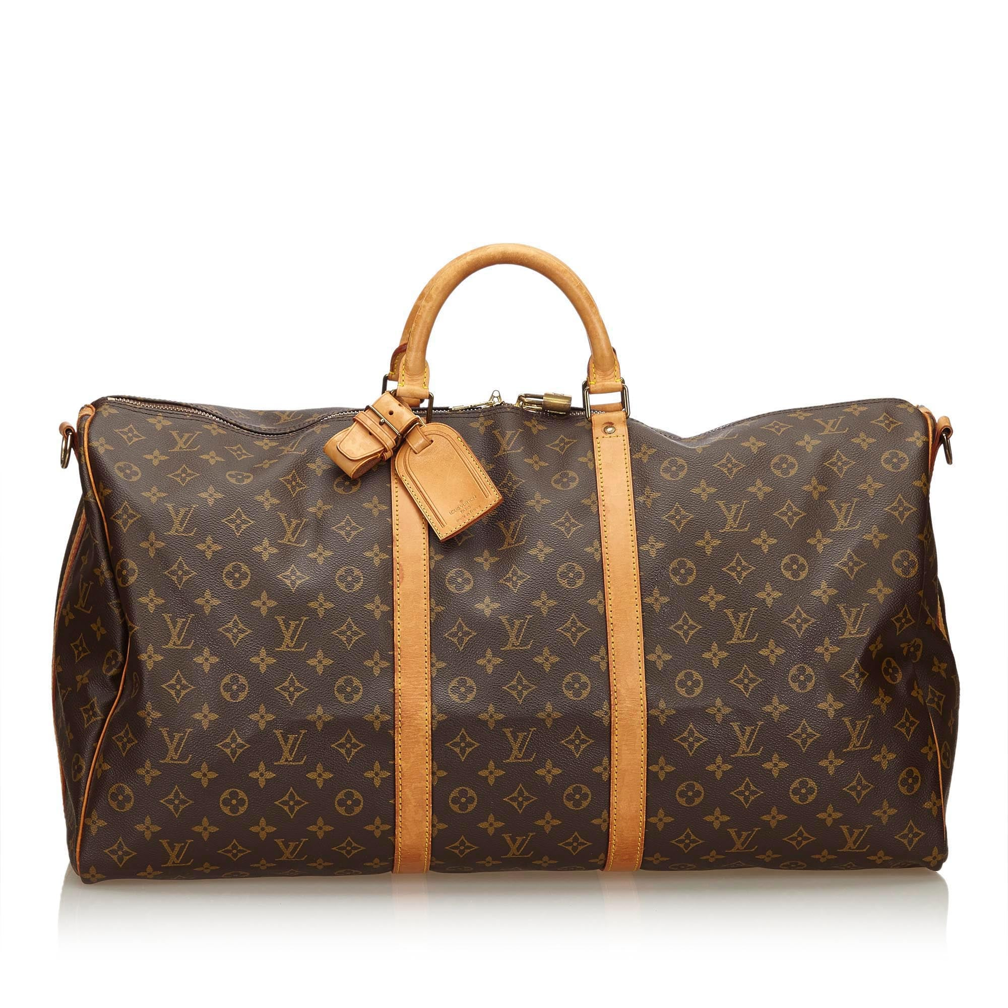 6bdc7f181027 LOUIS VUITTON MONOGRAM KEEPALL BANDOULIERE 60 TRAVEL BAG Shop online the  best value on authentic designer ...