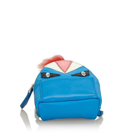 FENDI MINI MONSTER BACKPACK CHARM Shop online the best value on authentic designer used preowned consignment on Leef Luxury.