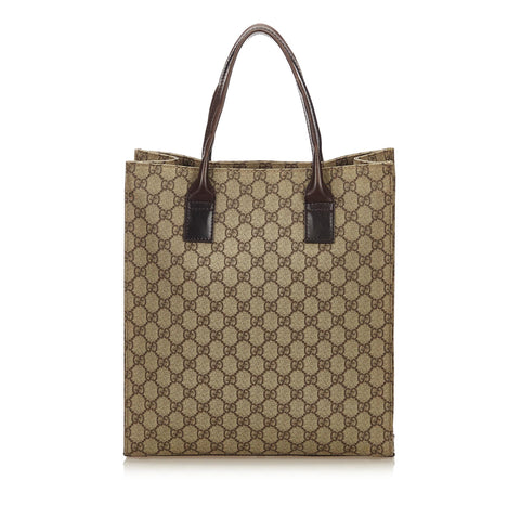GUCCI GG SUPREME PLUS TOTE SHOULDER BAG  Shop online the best value on authentic designer used preowned consignment on Leef Luxury.