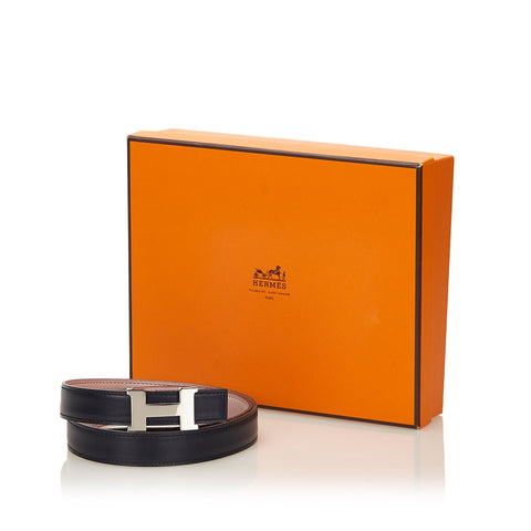 HERMES CONSTANCE H REVERSIBLE BLACK AND PINK BELT 75  Shop online the best value on authentic designer used preowned consignment on Leef Luxury.