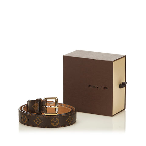 LOUIS VUITTON MONOGRAM BELT  Shop online the best value on authentic designer used preowned consignment on Leef Luxury.
