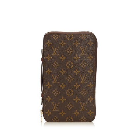 LOUIS VUITTON MONOGRAM DAILY ORGANIZER CLUTCH BAG - leefluxury.com