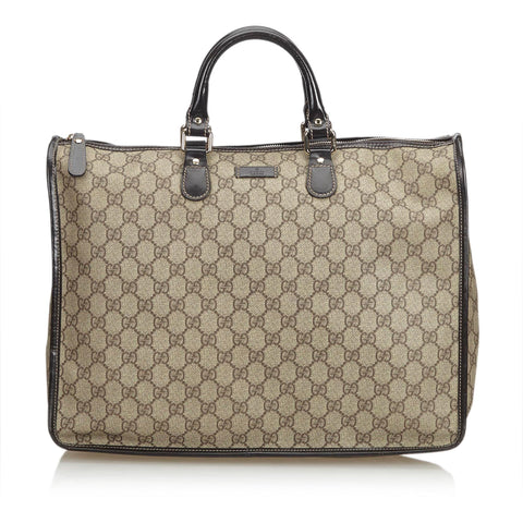 GUCCI GG SUPREME PLUS TOP HANDLE BAG - leefluxury.com
