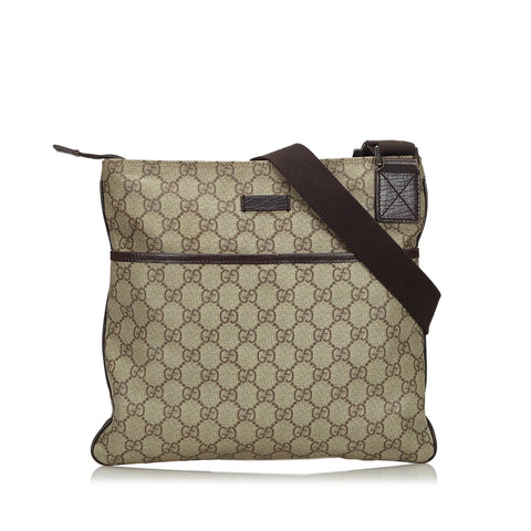 GUCCI GG SUPREME CROSSBODY MESSENGER TRAVEL BAG - leefluxury.com