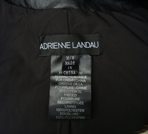 ADRIENNE LANDAU FUR CROPPED JACKET Shop online the best value on authentic designer used preowned consignment on Leef Luxury.