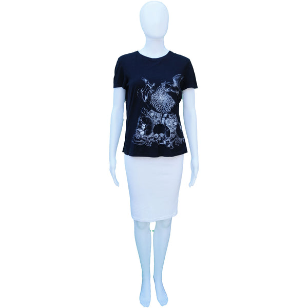 ALEXANDER MCQUEEN SKULL APPLE BIRD SHORT SLEEVE GRAPHIC T-SHIRT TOP