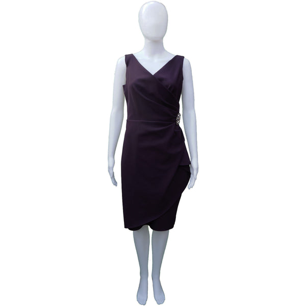 ALEXIS EVENING PLUM COCKTAIL DRESS