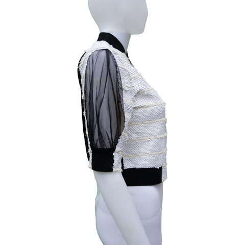 AVIU SEQUIN CROPPED JACKET - leefluxury.com