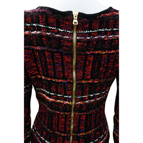 BALMAIN FRINGE-TRIMMED TWEED BODYCON NICKI MINAJ DRESS Shop online the best value on authentic designer used preowned consignment on Leef Luxury