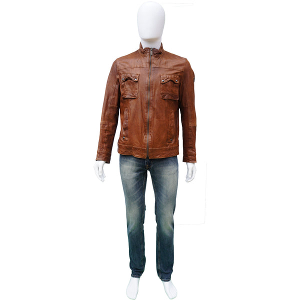 BOSS ORANGE COLLECTION LEATHER JACKET