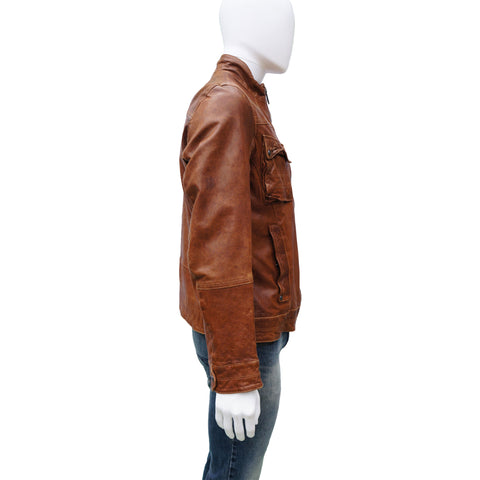 BOSS ORANGE COLLECTION LEATHER JACKET - leefluxury.com