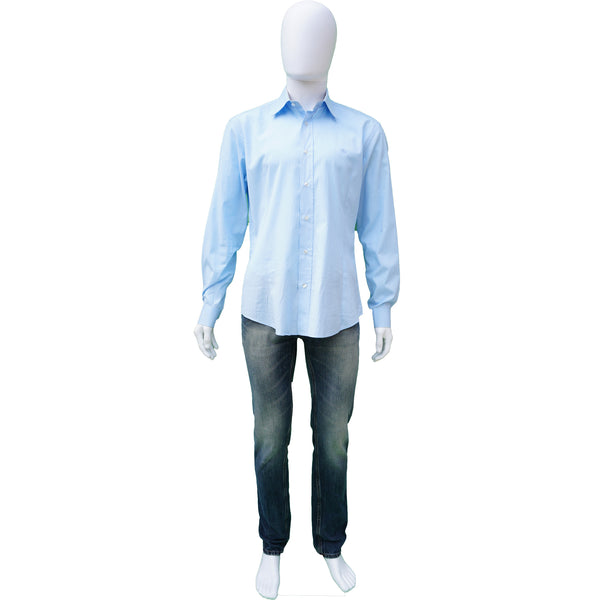 BURBERRY BRIT BLUE WOVEN CLASSIC DRESS SHIRT