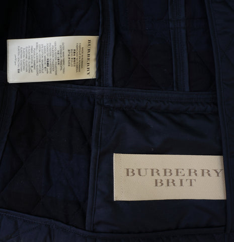 BURBERRY BRIT QUILTED LIGHTWEIGHT JACKET Shop online the best value on authentic designer used preowned consignment on Leef Luxury
