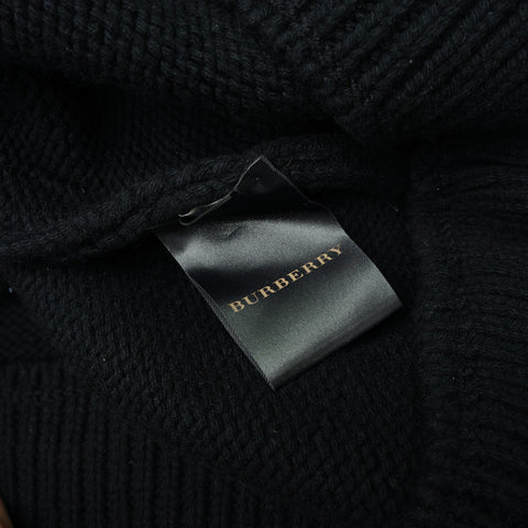 BURBERRY CASHMERE BLEND OVERSIZED KNIT TOP DRESS - leefluxury.com