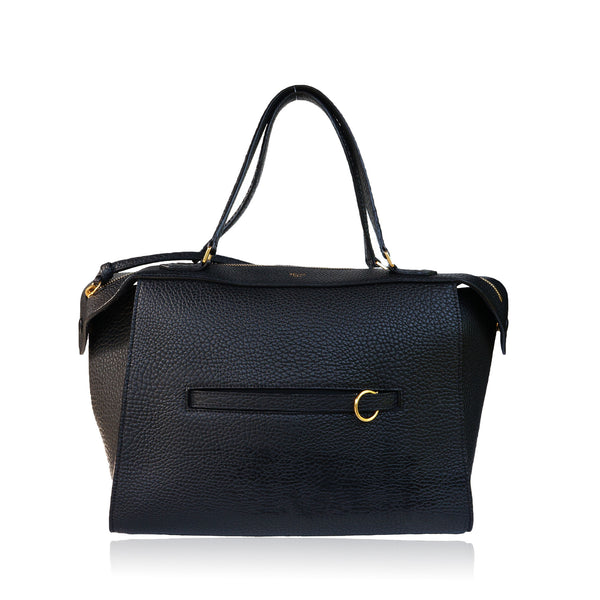 CELINE BULLHIDE LEATHER SMALL RING BAG