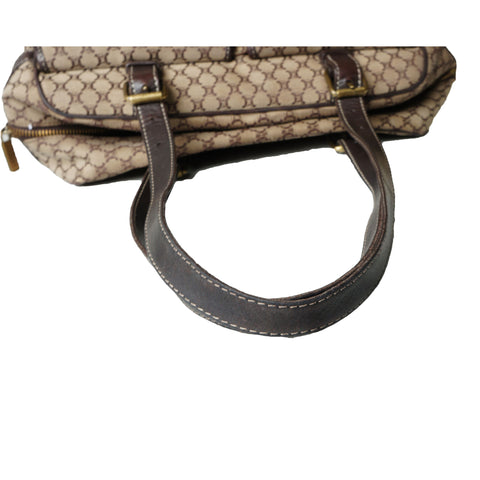 CELINE VINTAGE MACADAM SHOULDER BAG - leefluxury.com
