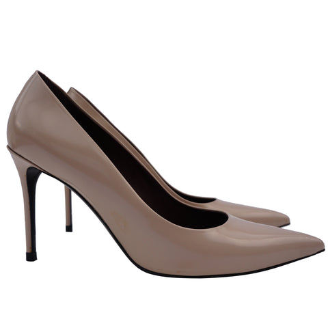 CELINE PHOEBE PHILO COLLECTION LEATHER POINTED TOE PUMP - leefluxury.com